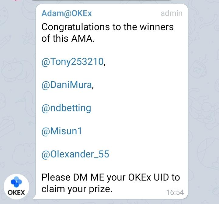5 winners